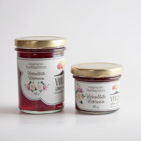 Rosenblüte Roséwein Fruchtaufstrich