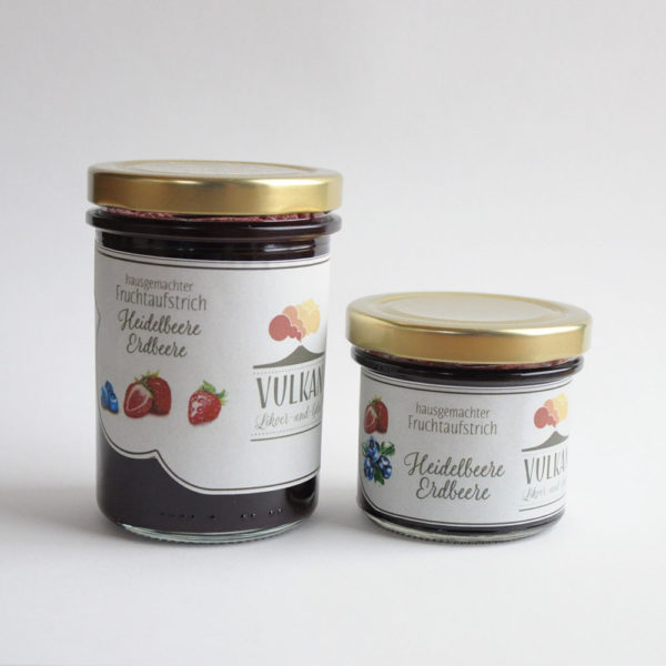 Heidelbeere Erdbeere Fruchtaufstrich
